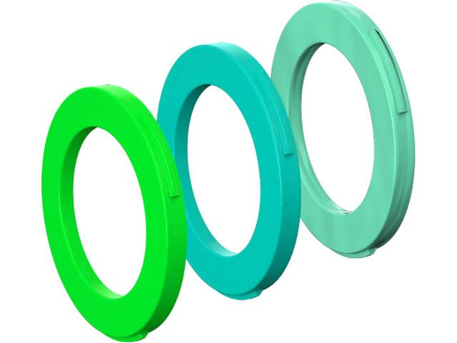 Magura Zestaw osłonek 4 tłoczki Klucz do hamulców od rocznika modelowego 2015, neon green/cyan/mint green